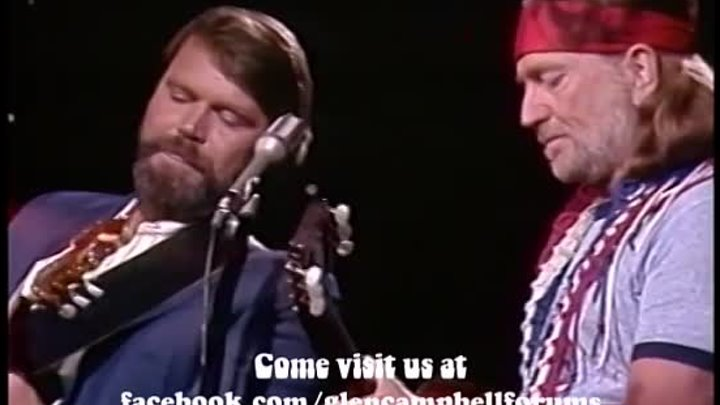 Glen Campbell and Willie Nelson - On The Road Again - 1982