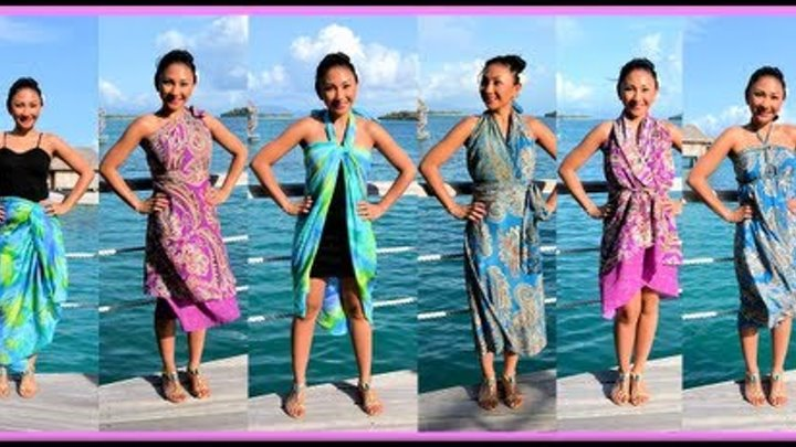 9 WAYS to WRAP,WEAR a SARONG, PAREO, CONVERTIBLE DRESS! (Iris Impressions) - AprilAthena7