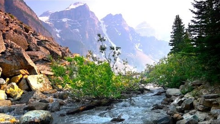 Relaxing Music with Nature Sounds 4K - Beautiful Mountain River