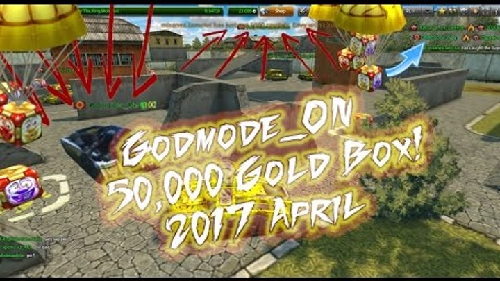 Tanki Online - Godmode_ON 50,000 Gold Box! 2017 April Fool's Day 5x Gold Video