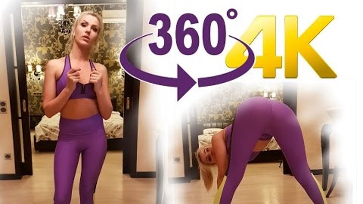 VR 360 Video Sexy Model deals with yoga [VR 360° VIDEO 4K]