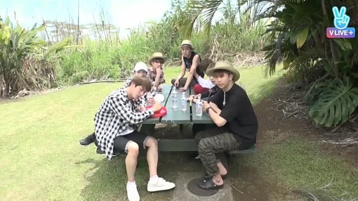 BTS BON VOYAGE S2 Ep 3 Shouting BTS out in the center of Hawaii