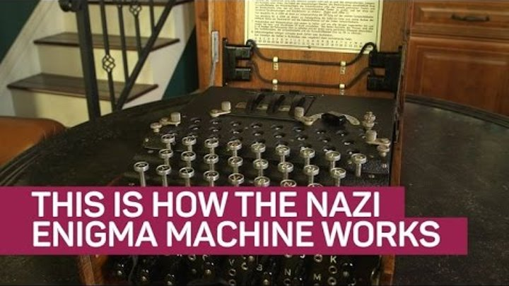 This is how the Nazi Enigma machine works