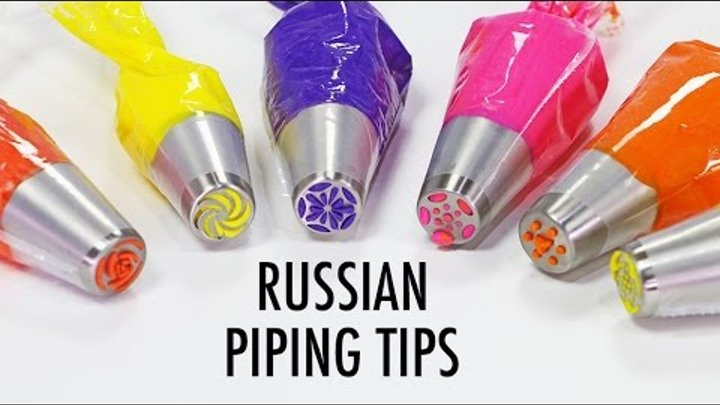 RUSSIAN PIPING TIPS - What are they & What do they do? - YouTube