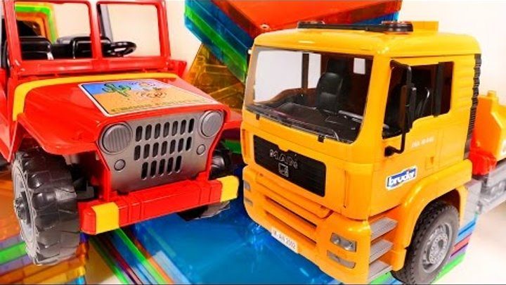 Kids videos 🚗 Cars toys & toy trucks for children 🚚 toy truck toys videos & garage construction