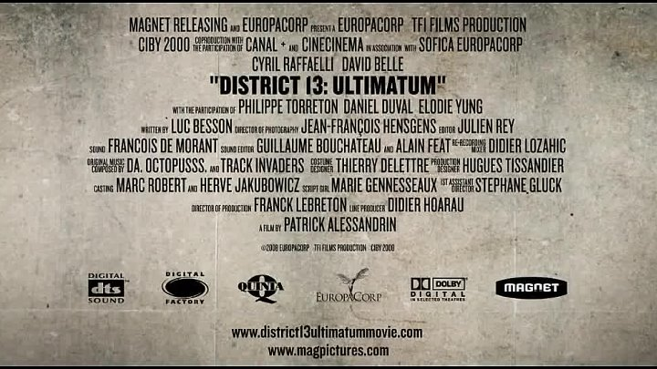District 13 Ultimatum (2009) - Official Trailer [HD]