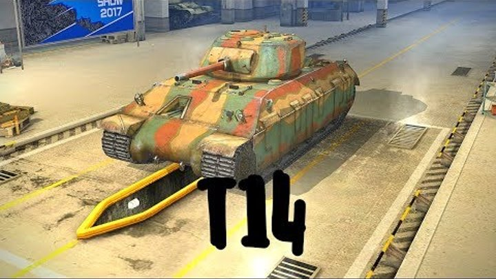 T14 (прем танк 5 уровня). World of Tanks Blitz. Летсплей