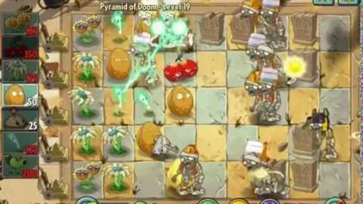 Plants vs Zombies 2 it's about time Pyramid of Doom Level 19 very expensive ios iphone gameplay