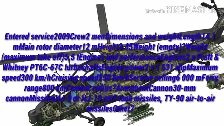 The Z-10 is the first dedicated modern Chinese attack helicopter