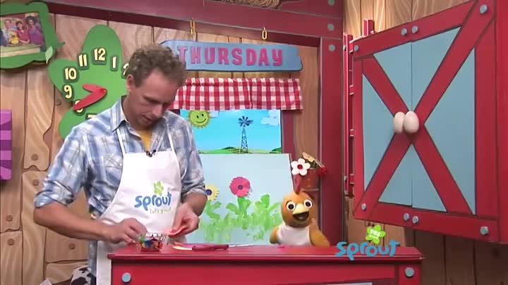Kids Crafts- Flower Painting with Sean and Chica on The Sunny Side Up Show