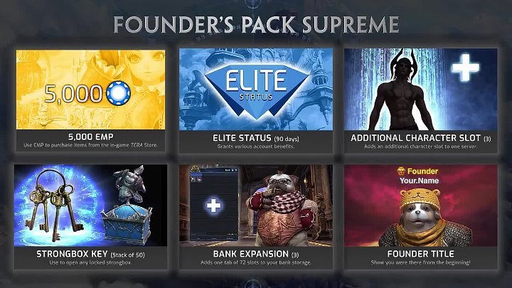 TERA — обзор Founder's Pack