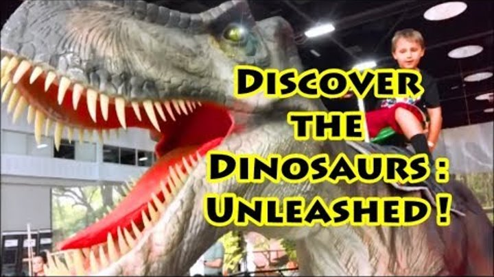 GIANT LIFE SIZE DINOSAURS & T-REX! Discover the Dinosaurs Exhibit! Animatronics