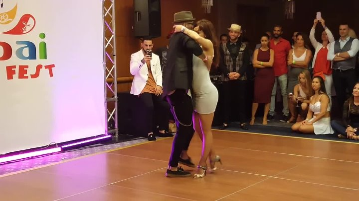 Dubai Latin Fest 2016. Kizomba artists dancing with each other