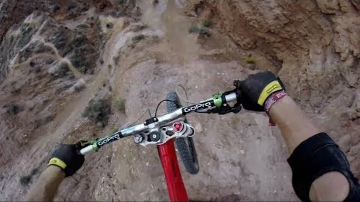 Kelly McGarry's 72ft Canyon Gap POV - Red Bull Rampage 2013