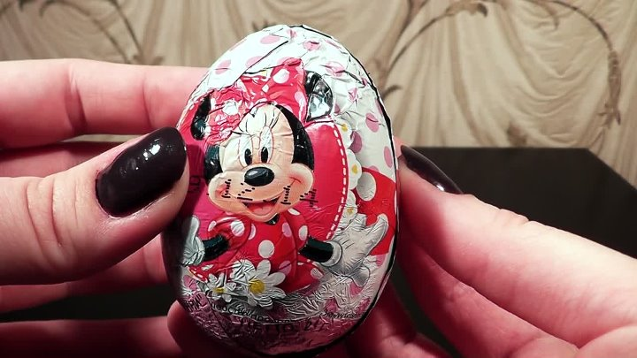 Unboxing Surprise eggs Минни маус 2015 kinder surprise eggs, Minnie Mouse Surprise egg disney