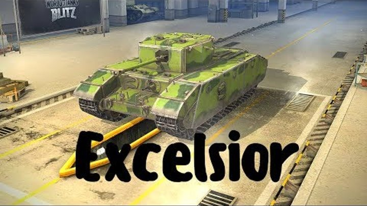 Excelsior (прем танк 5 уровня). World of Tanks Blitz. Летсплей