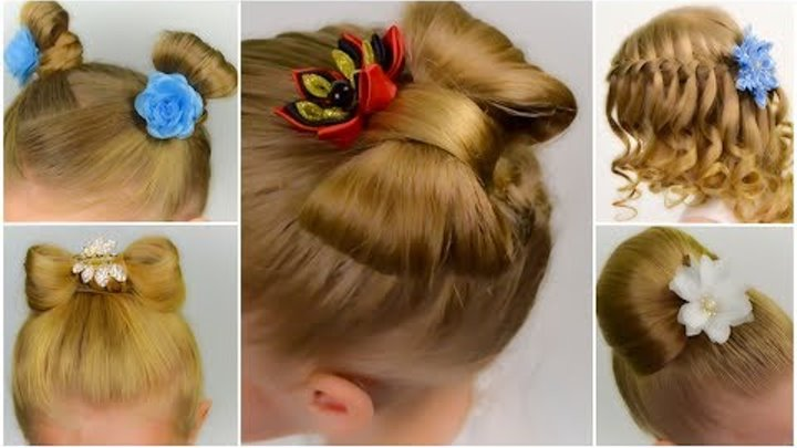 TOP 5 SPECTACULAR hairstyles in 5 minutes. BACK TO SCHOOL. COMPILATION #2