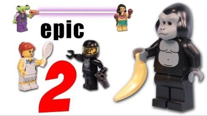 Epic Lego Minifigures Battles 2 - Featuring Series 2 3 and 4