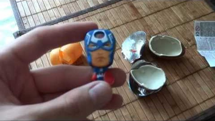 KINDER SURPRISE EGGS UNBOXING-СУПЕР ГЕРОИ MARVEL КИНДЕР СЮРПРИЗ 2015