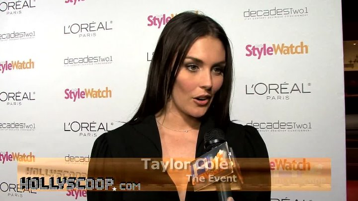Taylor Cole Likes Vintage For Red Carpet