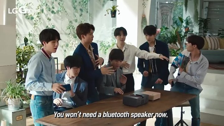 BTS reacts to LG G7 ThinQ Boombox Speaker