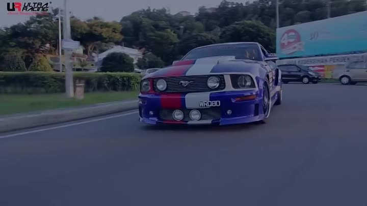 Ford Mustang GT with Ultra Racing Strut Bar