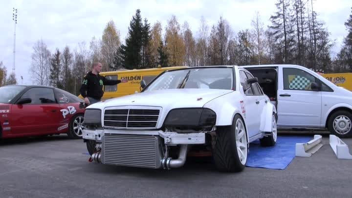 Driftloco Mercedes C36 AMG Turbo Driftcar - Green Valley 2013 (Testdrive One)
