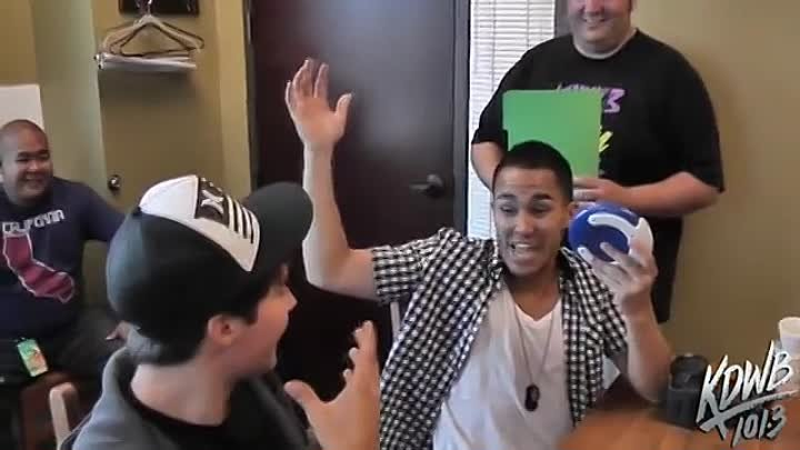 Big Time Rush Plays Catchphrase at KDWB