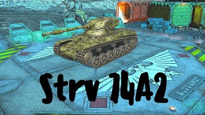 Strv 74A2 (прем танк 6 уровня). World of Tanks Blitz. Летсплей
