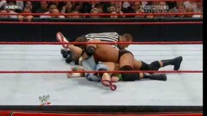 Triple H vs. John Cena Part 1 of 2 ( WWE Monday Night RAW 06/07/2009 ) High Quality