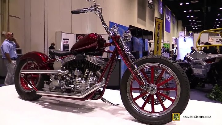 1948 Harley Davidsom R Model Custom Bike - Walkaround - 2015 AIMExpo Orlando
