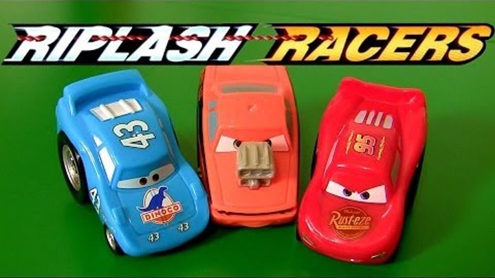 Pixar Cars Riplash Racers Snot Rod the King Lightning McQueen Mini Micro Racecars Review