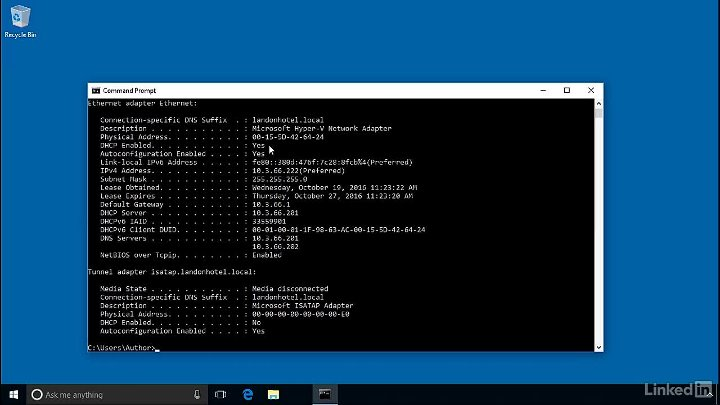 Windows.Server 2016 DHCP Configuring DHCP clients007 Configuring DHCP clients part 7 of 13
