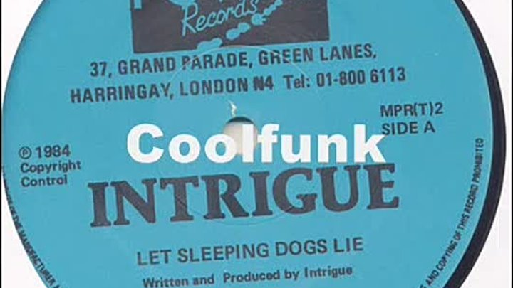 Intrigue - Let Sleeping Dogs Lie (12 Modern-Soul 1984)