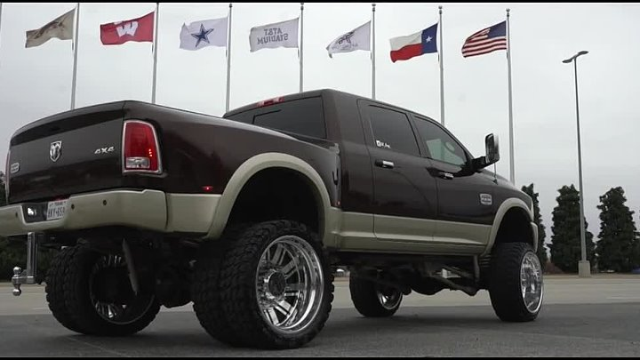 2016 RAM Longhorn Dually on 26 American Forces & 10 inch lift
