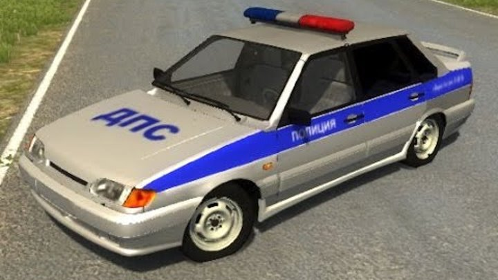 BeamNG.Drive Mod : Lada VAZ 2115 Police (Crash test)
