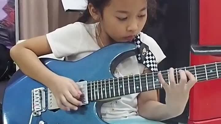 Highway star (organ solo) guitar by PettyRock 7 year old