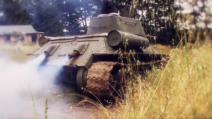 World of Tanks video game - the real T-34-85 Tank E3 HD trailer - PC