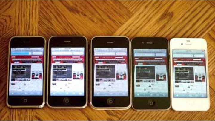 iPhone Speed and Camera Comparison Test (2G vs 3G vs 3GS vs 4 vs 4S)