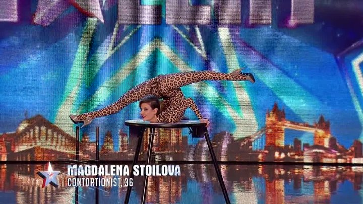 Magdalena bends over backwards for the Judges _ Audition Week 1 _ Britain's Got Talent 2015