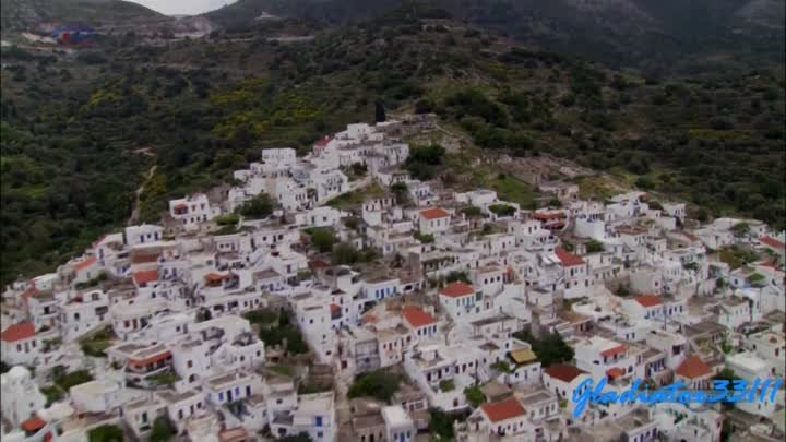 Aerial viewing of Greece