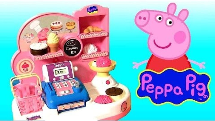 Peppa Pig Bakery Shop Playset Play Doh Pastelería Pasticceria Disney Frozen Princess Anna Elsa Dolls