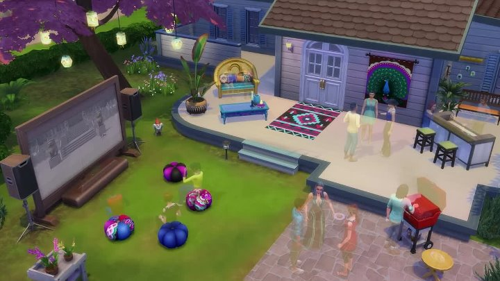 The Sims 4 Movie Hangout Stuff - Official Trailer ¦ PS4
