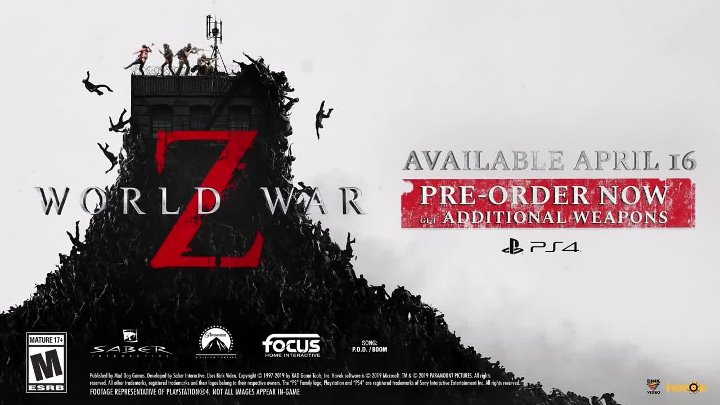 World War Z - Zombies are Coming Trailer ¦PS4
