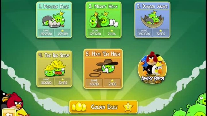 Angry Birds - Mac Game Update Review Walkthrough NEW Golden Eggs!!!