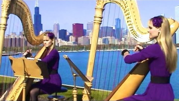 It is You I Have Loved - Shrek (Harp Twins) Camille and Kennerly, Harp Duet
