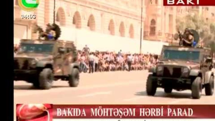 Azerbaijani Armed Forces Day celebrating Army Day (26th June 2011)