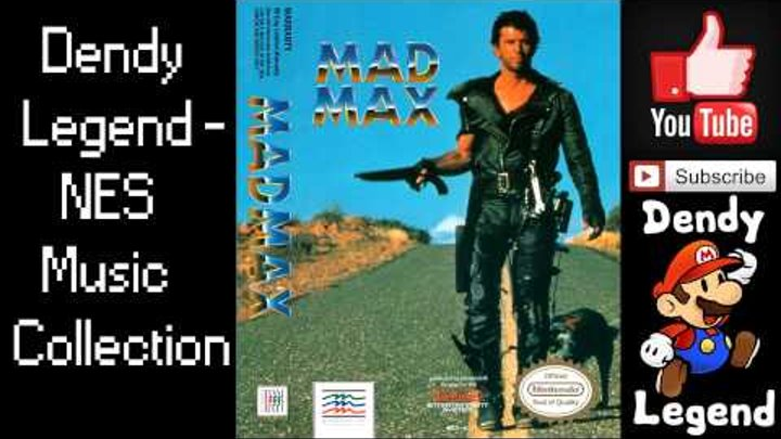 Mad Max NES Music Song Soundtrack - Title & Game Theme [HQ] High Quality Music