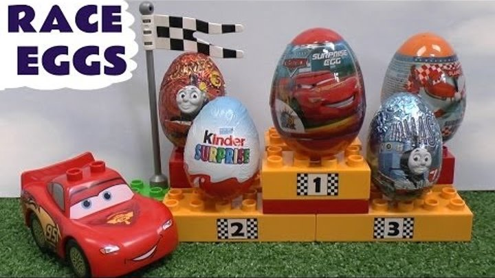 Thomas and Friends Surprise Eggs Disney Cars 2 Play Doh Planes Lego Duplo Toy Hot Wheels Kinder