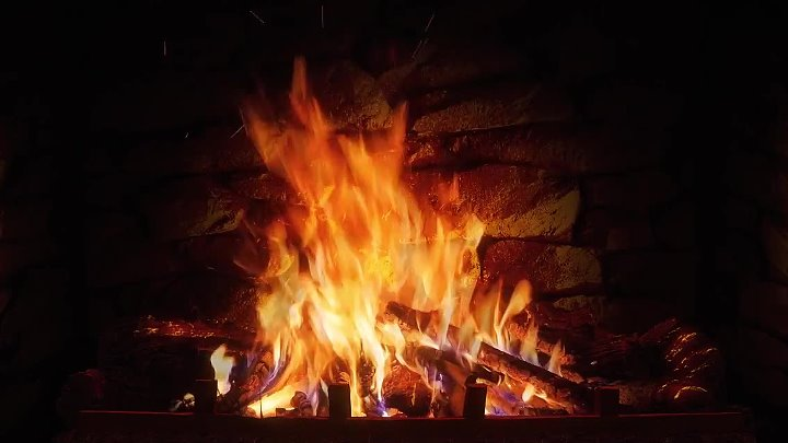 Relaxing Fireplace with Crackling Fire Sounds 8 HOURS No Music